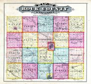 County Map, Rock County 1873